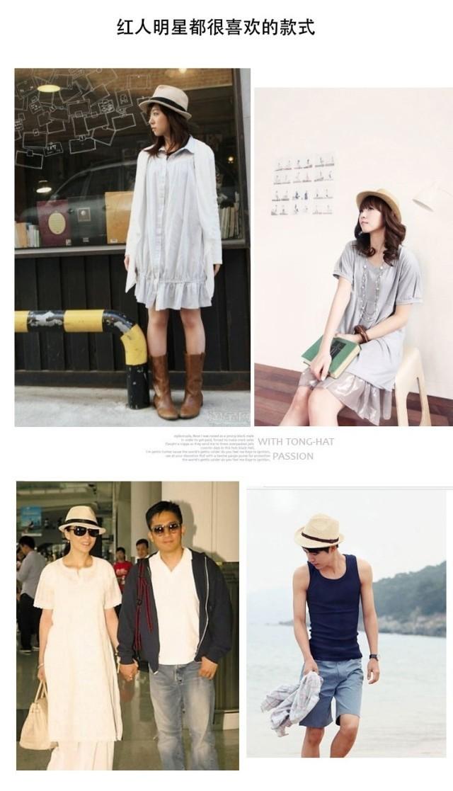 Женская фетровая шляпа Fashion Unisex Solid Braid Fedora Trilby Gangster Cap Summer Beach Sun Straw Panama Hat Panama Hats
