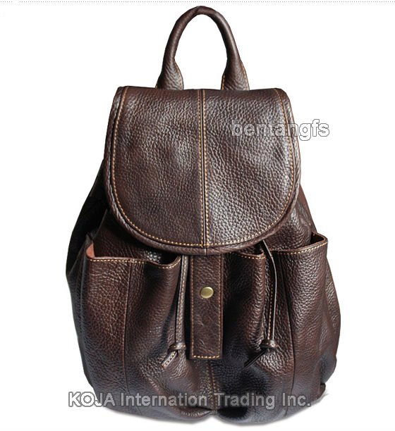 Fashion Vintage Brown Girls Women Leather Backpack Women Backpack ...