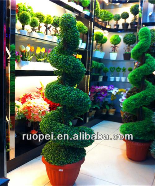 Haute qualit artificielle buis spirale bonsa arbre for Bonsai artificiel grande taille