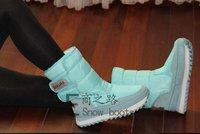 7 цветов женщин водонепроницаемый скольжения устойчивостью тепловой снега сапоги