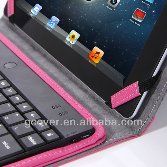 2013 New Mobile Aluminum Case with Bluetooth Keyboard For iPad 2