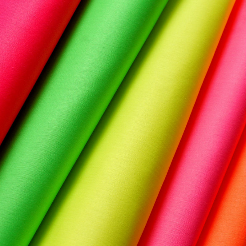 Fluorescent Cotton Twill Fabric, High Visibility,