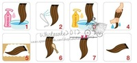 Волосы для наращивания New 10PCS /Lot 60cm 24inch Straight Clip In On Hair Extensions 10 Colors Available Good Quality On