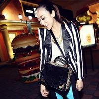 Маленькая сумочка Fashion Handbag Women's Sexy Europe Sequin Leopard Clutch Night Club Tote Shoulder Crossbody Bag Black
