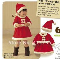Комплект одежды для девочек Baby romper + hat Kids Christmas clothing cotton Baby boys & Girls Sanda clothes Masquerade & Retial