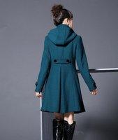 2012 LADIES HOT SALE WOOLEN COAT, WOMEN'S FASHION HOODED COATS, WINTER JACKETS, OUTERWEAR