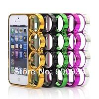 Чехол для для мобильных телефонов luxury designer knuckle brass Ring plating case hard skin cover shell case protective set for iphone 5 5G