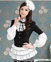 S-XL free shipping Manufacturers supply new fashion Women's long sleeved shirt moq 1pc #W8471