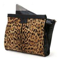 Сумка через плечо Leopard Printed Women Envelope Messenger Purse Shoulder Handbag Clutch Bag, PU Leather + Horse Hair