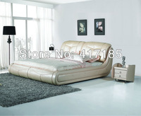 customized home furniture, bedroom leather bed, double, EX WORKS PRICE