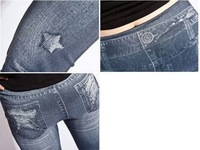 Женские джинсовые леггинсы faux denim jeans ladies' skinny leggings pencil pants slim elastic stretchy tights, 7 style, drop ship shipping 1 pcs
