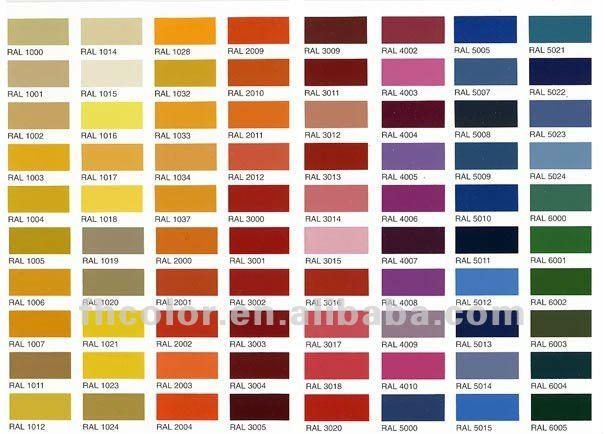 Nombre de colores de pintura - Imagui