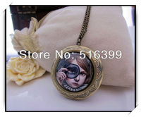 Gothic Fashion Mask Girl Design Pendant  Necklaces Jewelry Free Shipping