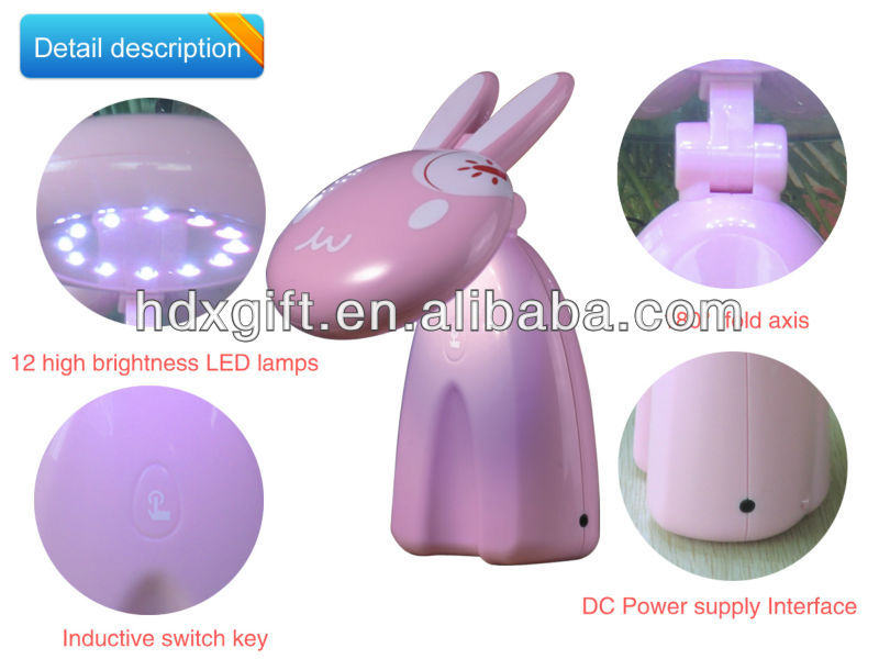 animal shapes rechargeable led rabbit lamp
