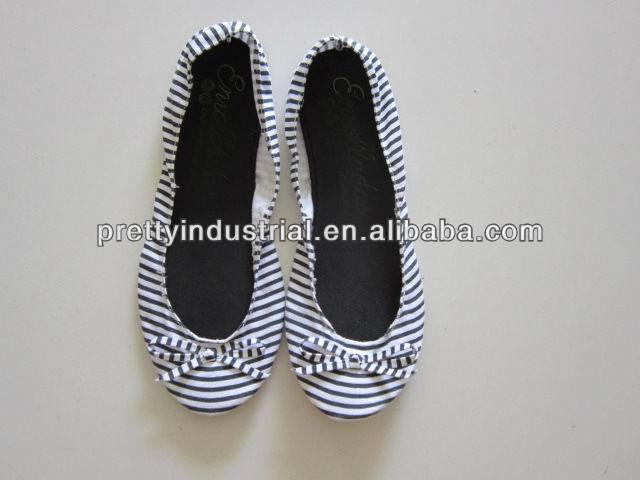 Foldable ballet shoe, soft ballet flat