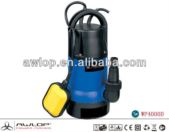 550W 9500L/h Centrifugal Submersible Pump / Submersible Solar Water Pump
