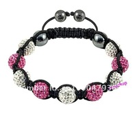 New Wholesale Unisex Shamballa Ball Bracelet With Tresor Czech Pave Crystal Disco Beads Handmade Bracelet 100PCS