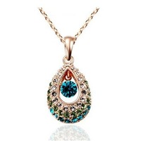 JJ050 Fashion Necklace jewelry with swarovski element crystal Pairs Green