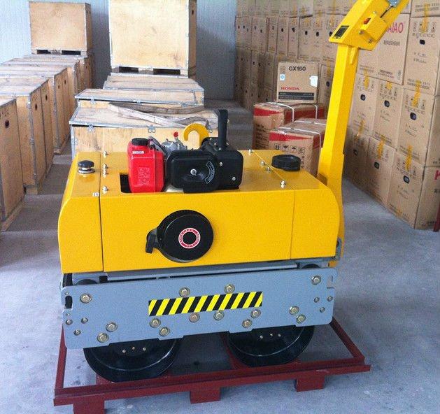 KDR600 9hp/6.6kw Walking Manual Dual Drums Diesel Roller Compactor Machine