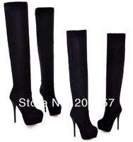 2012 sexy boots .knee boot. high heels shoes plus size