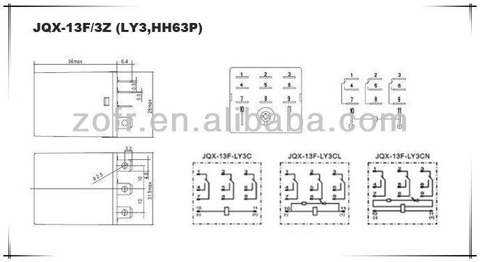 Hh63p дополнительное реле 3PDT