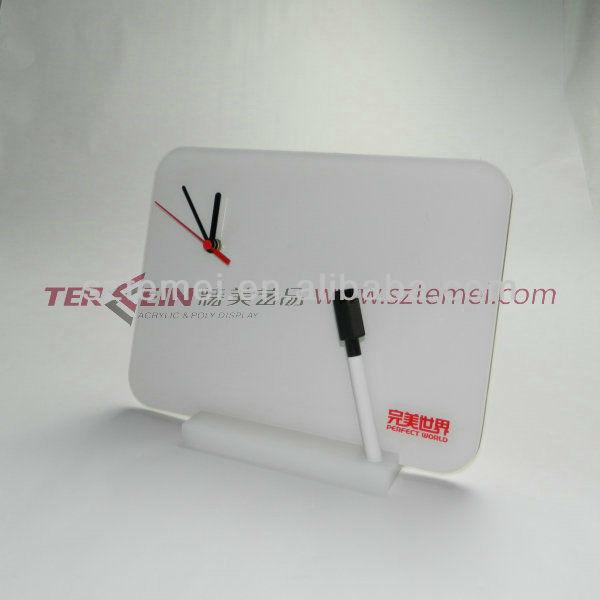 acrylic table clock or decorative table clock