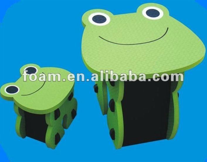 funny colorful EVA desk and chair for children or kids