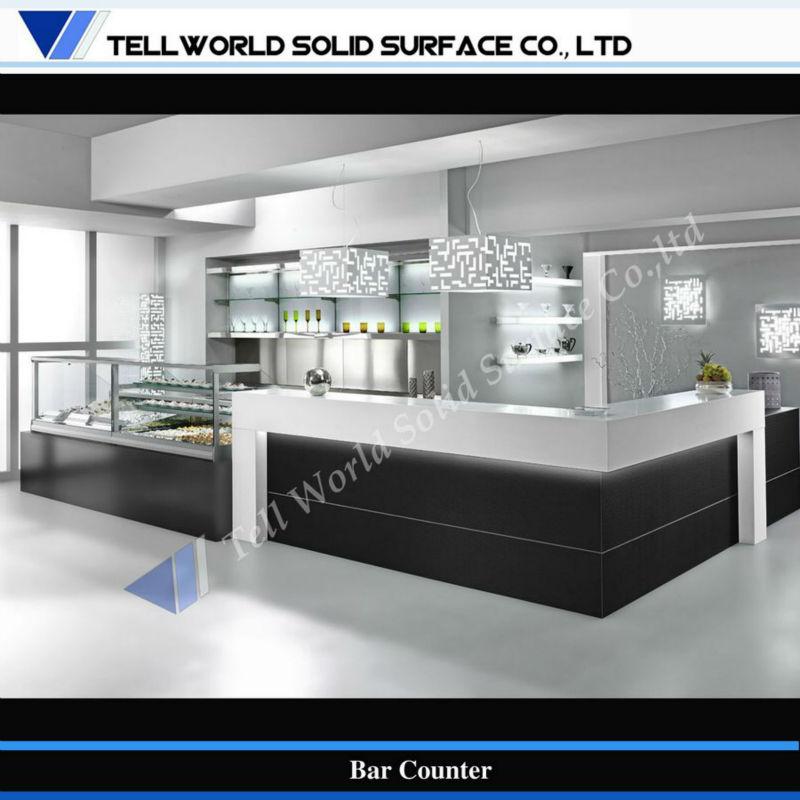 Contemporary Design Coffee Shop Counters Cafe Bar Wine