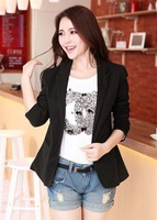 Free shipping! 2013 spring women's  fashion slim blazer fashion outerwear candy color one button suit ladies jacket