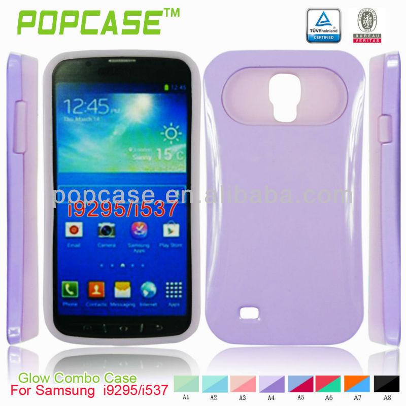 [2013 latest design] glow combo case for samsung galaxy s4 active i9295