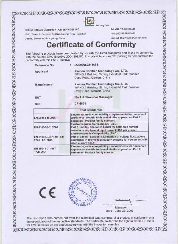 CE certification for CF-6808.jpg