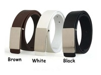 Мужской ремень Fashion PU Leather Premium Metal Mens Strap Man Ceinture Smooth Buckle Belt men's belt