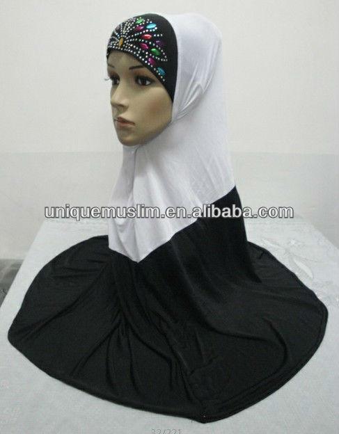 H168 big size two color muslim hijab,hijab scarf