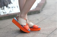 Женские сандалии In the new female shoes waterproof station platform shoes Korean color fish mouth sandals