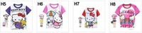 Футболка для девочки Hello kitty, over 100 patterns+6 sizes+good packaging, girls fashion tees, childrens summer t-shirts, baby's tops