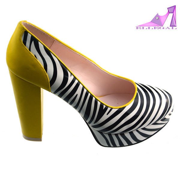 Fashion stirp high thick heel platform shoes