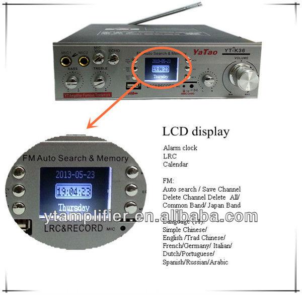 tennis ball speaker amplifier YT-K36 with USB/TF/Karaoke