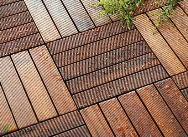 Outdoor Bamboo Decking Flooring Tiles Eco Friendly Bamboo