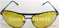 желто-HD ночного вождения видение солнцезащитные очки авиатора