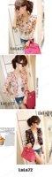 Женская куртка Fashion Long Sleeve Floral Print Shrug Short Jacket Chiffon Top 3 Colors