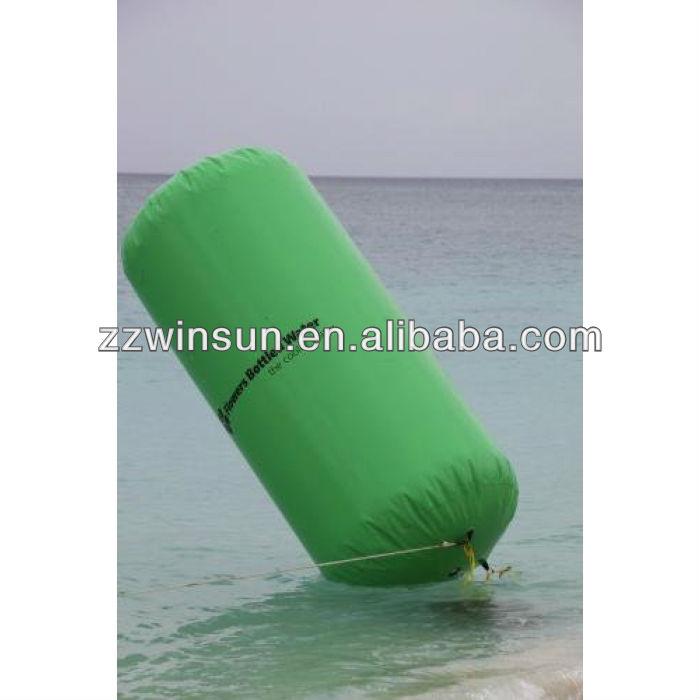 Publicit gonflable de natation bou e cylindre forme pour for Caillou francais piscine