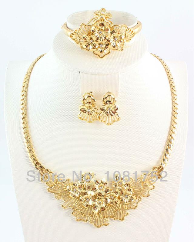 Бесплатная доставка мода высокое качество бижутерия 18 К позолоченные горный хрусталь ювелирных изделий для женщин