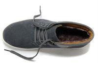 Мужская мода зима случайные шерсть кружева up тепло плоской спорта скейтборд улица танцы обуви кроссовки, резиновая подошва, черный, серый, 38-44