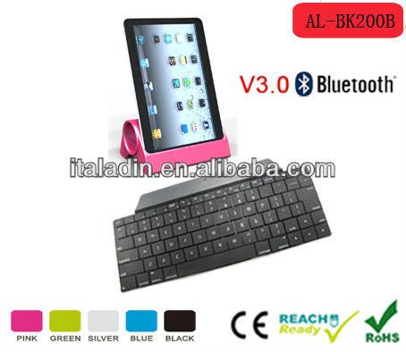 black rubber bluetooth 3.0 keyboard