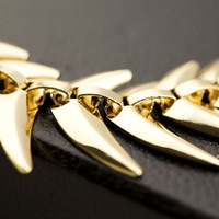 Колье-цепь Fashion Chunky Necklace Gold Color Alloy Big Chain Necklaces for Women Jewelry LX099