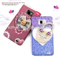 Чехол для для мобильных телефонов 2pcs/lot New memo Lovely Hard Case Cover for Samsung Galaxy S II S2 i9100