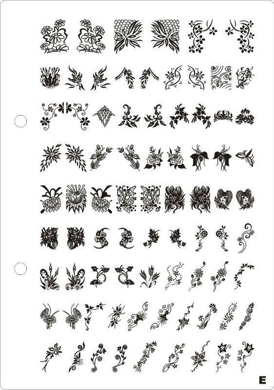 Наклейки трафареты для дизайна ногтей
