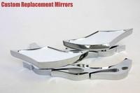motorcycle partsAlloy TWIST DIAMOND Custom Mirror GSXR600 750 1000 1100 Hayabusa CHROME