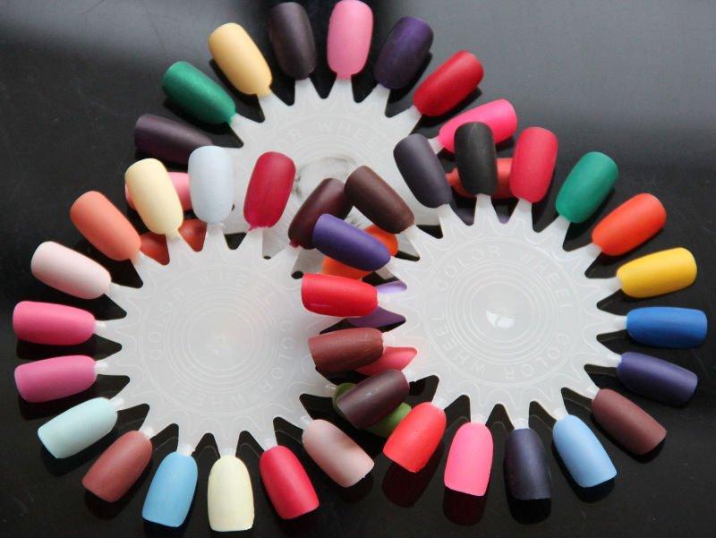 Mate de color de esmalte de uñas/mate laca de uñas en 3 colores