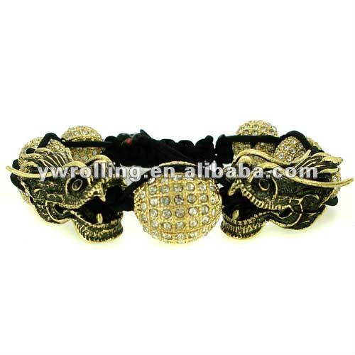 dragon heads full iced out gold discoball shamballa bracelet.jpg